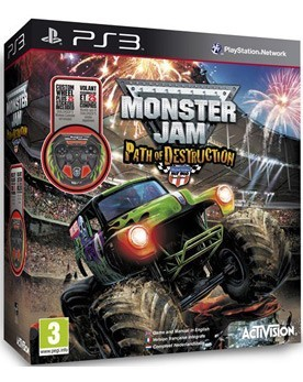 Monster Jam: Path of Destruction (игра + руль) (PS3) - PS4, Xbox One, PS 3, PS Vita, Xbox 360, PSP, 3DS, PS2, Move, KINECT, Обмен игр и др.