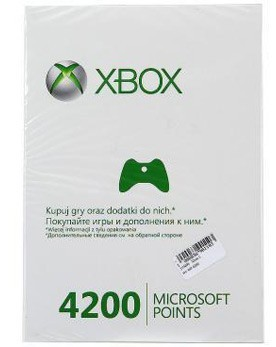 Xbox LIVE: карта оплаты 4200 очков (Xbox 360) - PS4, Xbox One, PS 3, PS Vita, Xbox 360, PSP, 3DS, PS2, Move, KINECT, Обмен игр и др.